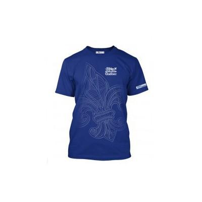 T-shirt blanc à manches courtes - Lys Québec