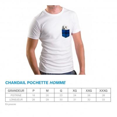Chandail Homme noir - Pochette bleue