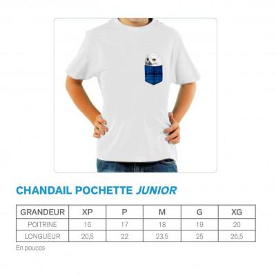 Chandail Junior noir - Pochette bleue