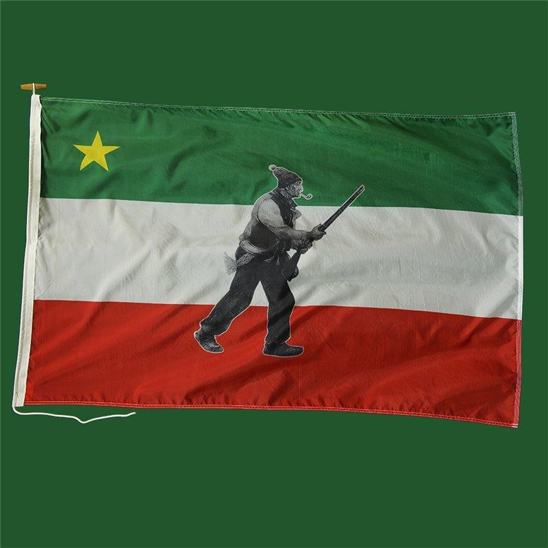 Drapeau patriote avec personnage