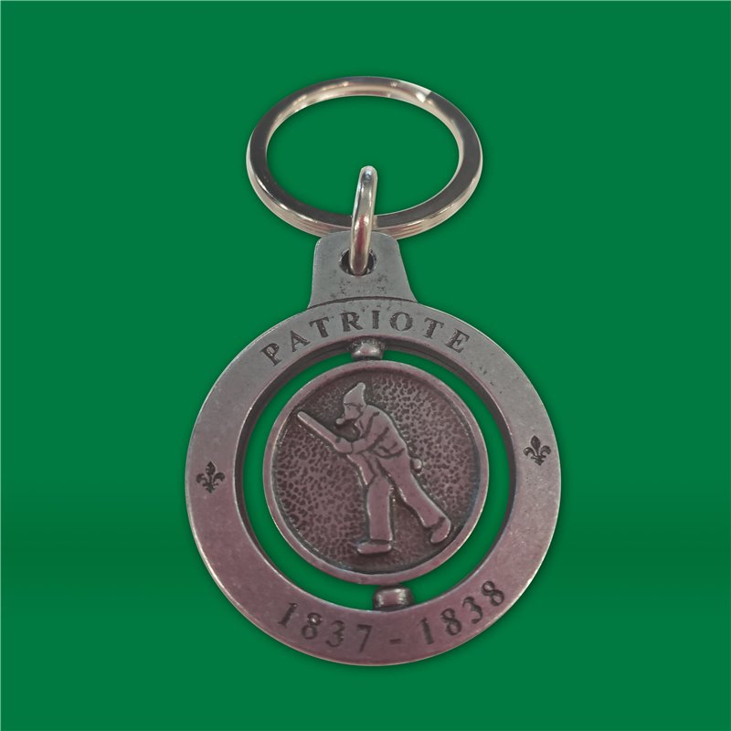 Porte-clés patriote en métal