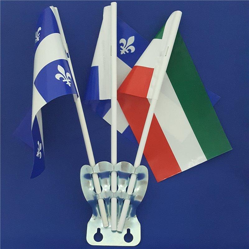 Support à drapeaux métallique - 3 branches