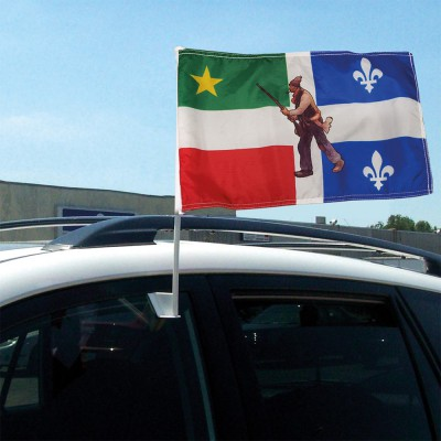 Drapeau d'auto Québec/Patriote