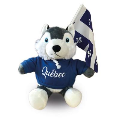 Peluche Husky Québec