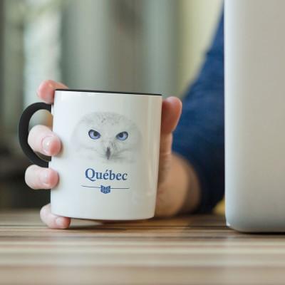 Tasse à café harfang des...