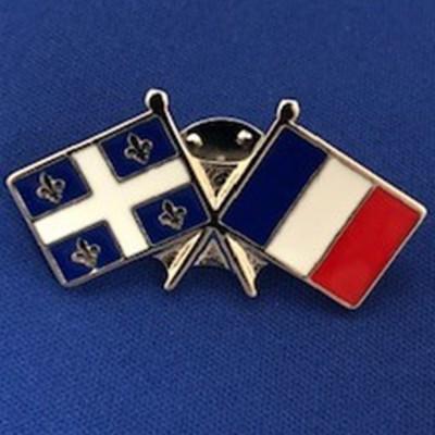 Épinglette Québec/France -...